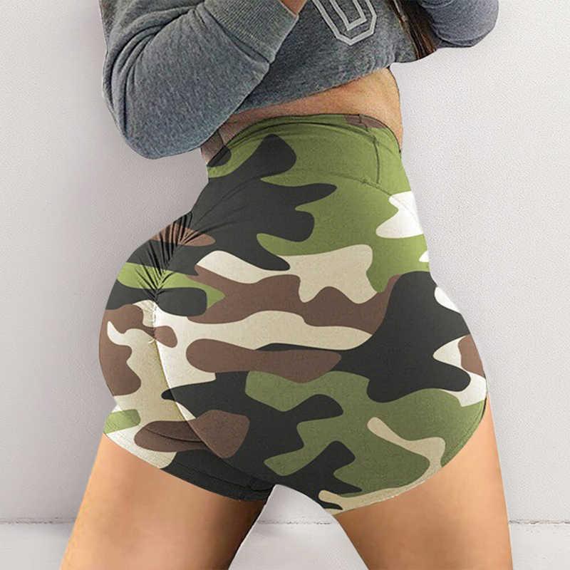 2020 plus récent femmes chaudes taille haute été Camouflage sport Fitness Shorts gymnastique Yoga collants course exercice court Sexy femmes court