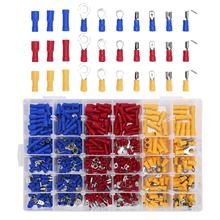 480 PCS Insulated Wire Electrical Connectors - Butt, Ring, Spade, Quick Disconnect - Crimp Terminals Connectors Assortment Kit