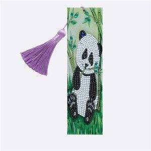 DIY 5d алмазная картина панда бамбуковые закладки специальная форма алмазная книга отметки Книга знаки Рождественский подарок