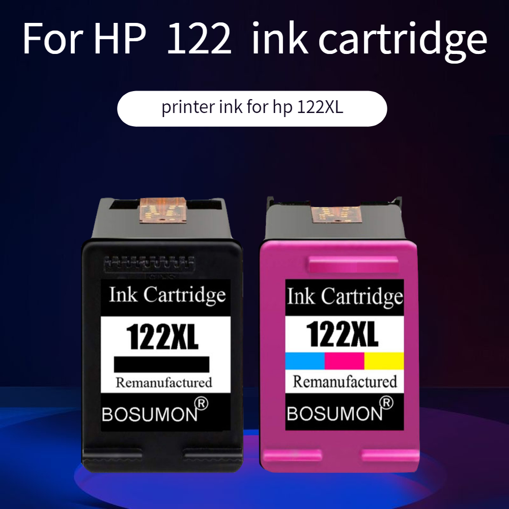 Bosumon Refilled Ink Cartridge 122XL <font><b>122</b></font> XL for <font><b>hp</b></font> Deskjet 1000 1050 1510 2000 2050 2540 3000 3050 1050A 2050A 3050A printer image