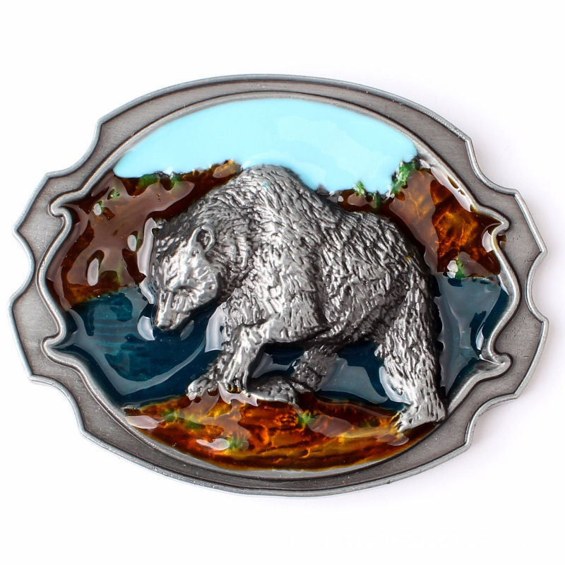 Brown Bear Belt Buckle Homemade Handmade Waistband Components Animal Buckle