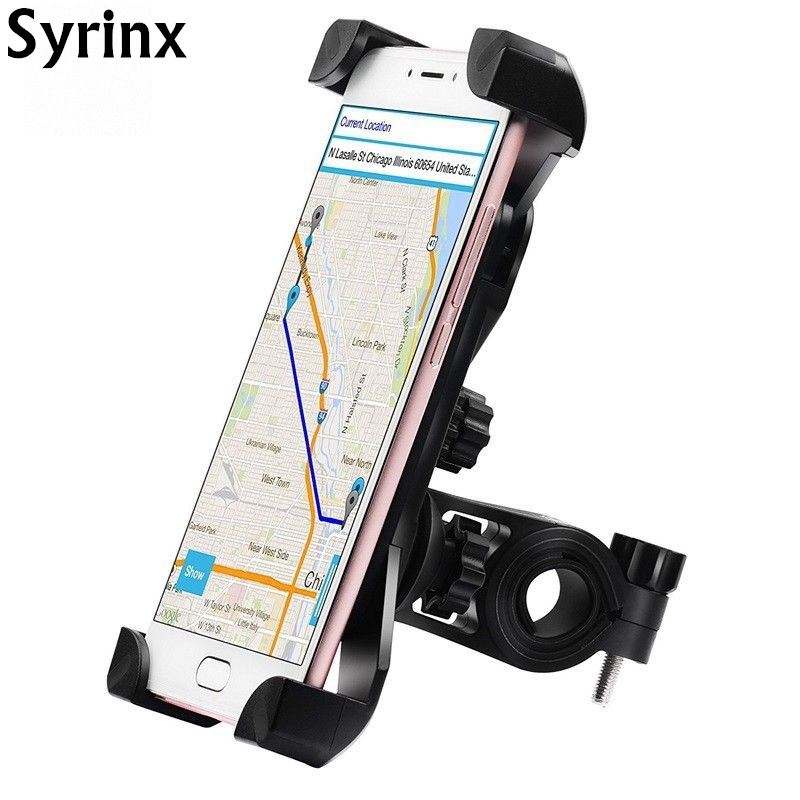 Automatic Expansion Motorcycle Bike Bicycle Handlebar Mount Holder For Cell Phone GPS Stand Mechanical Holder For IPhone Support