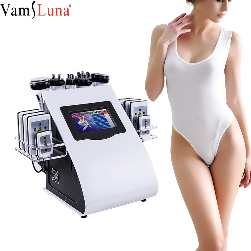 New 6 In 1 Vacuum Laser Radio Frequency RF Removal Fat Body 40K Cavi Lipo Slimming Ultrasonic Liposuction Cavitation Machine