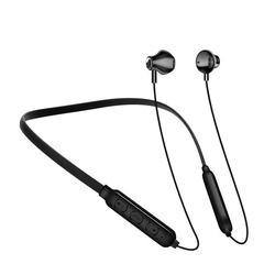 Magenetic Bluetooth Neck Hanging Earphone 5.0 Headset Sport Neckband Wireless Earphone Earbuds Headphones with Mic for All Phone