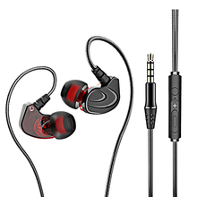 In Ear Wired Earphone Heavy Bass Stereo Wire Control Drive by Wire 3.5MM Earbuds Sports Headphone Headsets with MIC Microphone