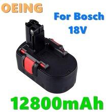 Original para bosch 18v 12800mah ni-cd bateria de ferramenta elétrica recarregável para bosch bat038 15614 1661 1661k 22614 23614 32614 33614