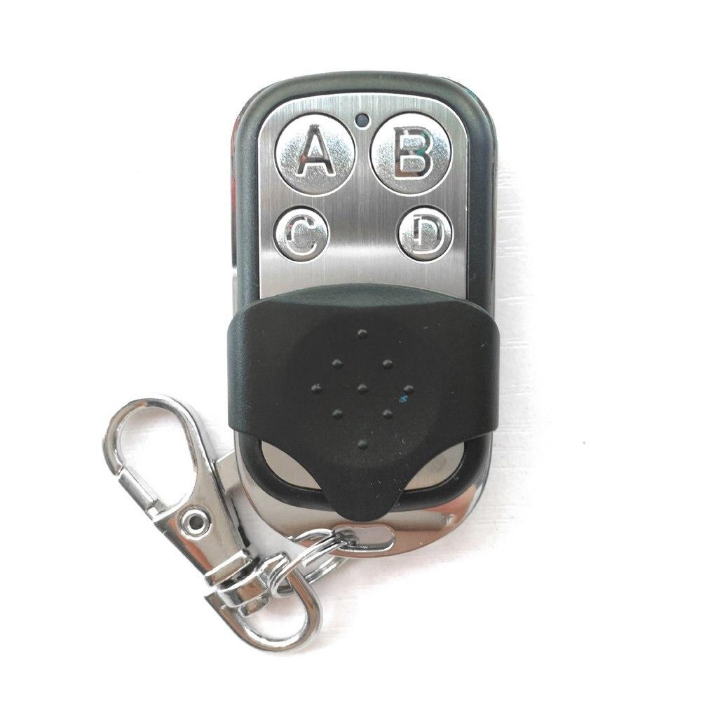 Tüketici Elektroniği'ten Uzaktan Kumandalar'de Taşınabilir kablosuz 4333.92 Mhz uzaktan kumanda kopya kodu uzaktan 4 kanal elektrikli klonlama garaj kapısı otomatik anahtarlık title=