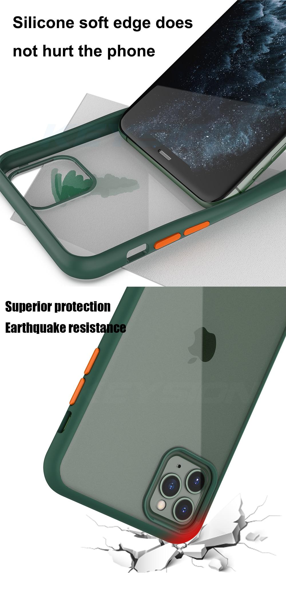 Funda iPhone 11 Pro Case Semi Transparente Anti Golpes