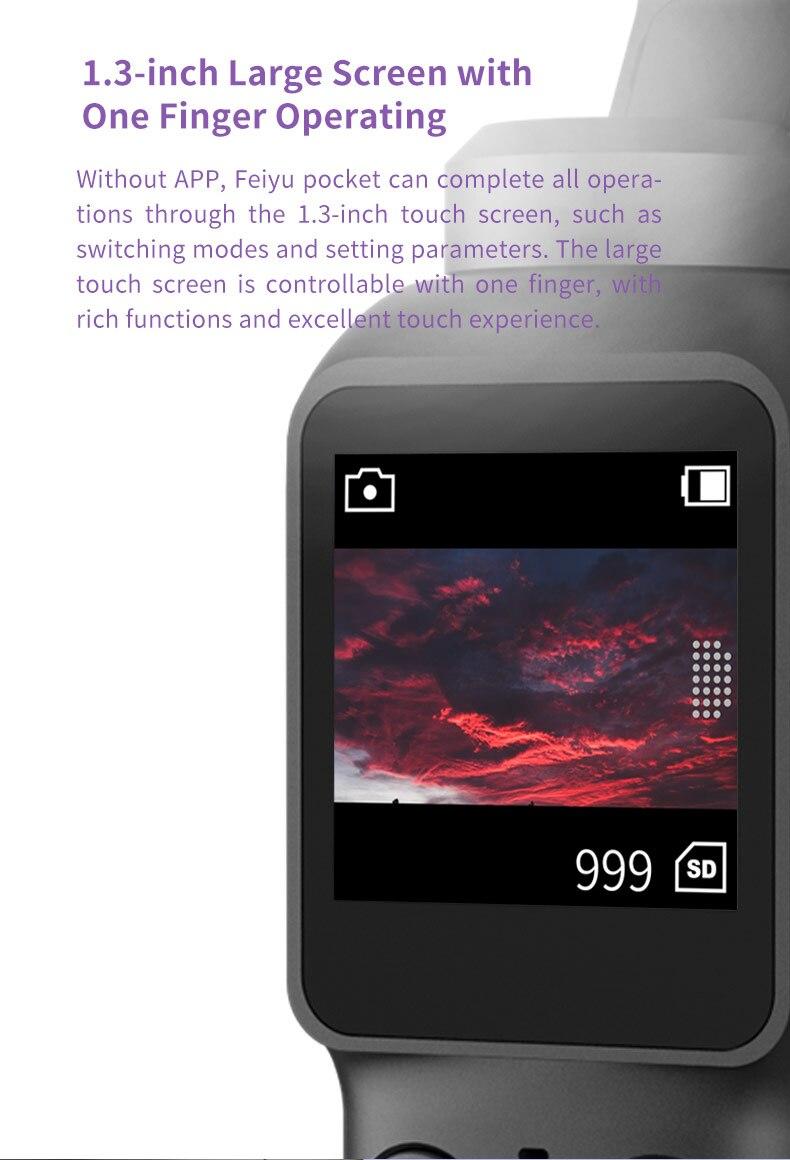 Feiyutech κάμερα τσέπης με χειρολαβή 4k 60fps με wi-fi control msow