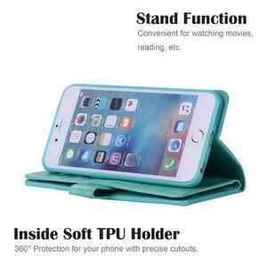 Image 5 - L FADNUT для iPhone X Xr Xs 11 Pro Max 8 7 6S 6 Plus 5 5S SE 2020 кошелек на молнии для карт чехол для телефона откидной держатель кожаный чехол