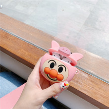 For AirPod 2 Case 3D Pig Smile Cartoon Soft Silicone Wireless Bluetooth Earphone Cases For Apple Airpods 2 Case Cute Cover Funda for airpods pro case 3d little bear cartoon soft silicone wireless earphone cases for apple airpod 3 case cute cover funda
