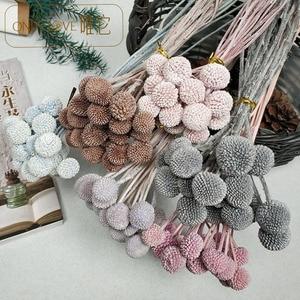 Flores frescas preservadas, flores doradas, ramo de flores secas, decoración para el hogar y adornos de flores