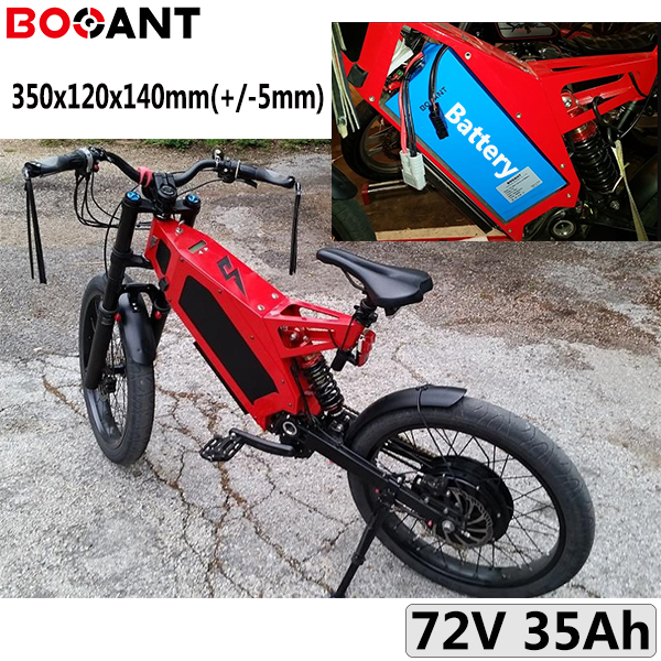 Rechargeable Electric Bike Battery 72V 35AH E-bike Lithium Ion Battery For Sanyo 18650 Cell 20S 72V 2000W 3000W With 5A Charger