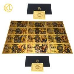 Новый 12 видов конструкций в японском стиле «Святой сэйя» серии 10000 Yen Золото пластиковый банкнот для классических детских памяти Коллекция