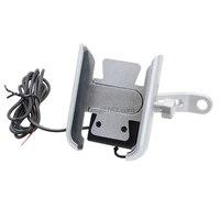 Suporte de celular para espelho de motocicleta  12v 360 ° à prova d'água  com carregador usb  para samsung 4-6.5 polegadas celular móvel