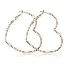 2019 New Fashion Hollow Peach Heart Earring Metal Plating Ornaments Simple Dangle Earrings For Women Copper Brincos Jewelry(China)