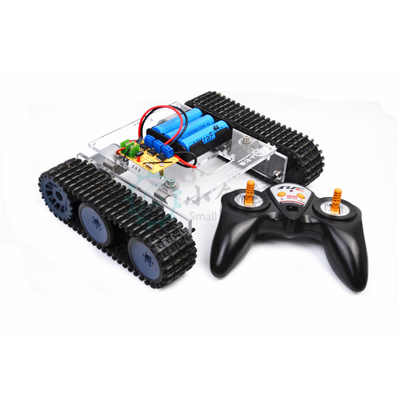 2.4G Remote Control Tank Assembled Small Production Toy Kit Maker DIY Electronic Bricks Sn7500