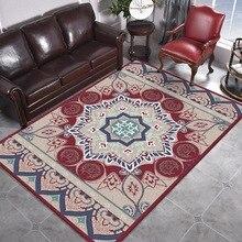 Alfombra estilo europeo para sala de estar Floral turco decoración del hogar alfombras étnicas grandes para habitación 160X230 alfombras para dormitorio bohemio alfombrillas vintage persa