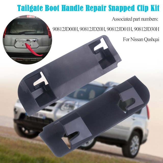 Tailgate Boot Handle Repair Snapped Clip Kit for Qashqai 2006-2013