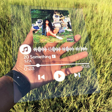 Custom Spotify Code Acrylic Board Transparent Plexiglass Personalized Gift Personal Photos/Album Board Custom Your Favorite Song