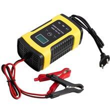 Cargador de batería inteligente de 12V y 6A para coche y motocicleta, acumuladores de Gel AGM de plomo y ácido con pantalla LCD Digital, reparación de pulsos