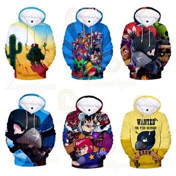 Hot Game 2019 Kid Toy Leon Shirt Massage Child Clothing Hoodies 3D Print Unisex Sweatshirt Casual Spring Autumn Thin Hoodies