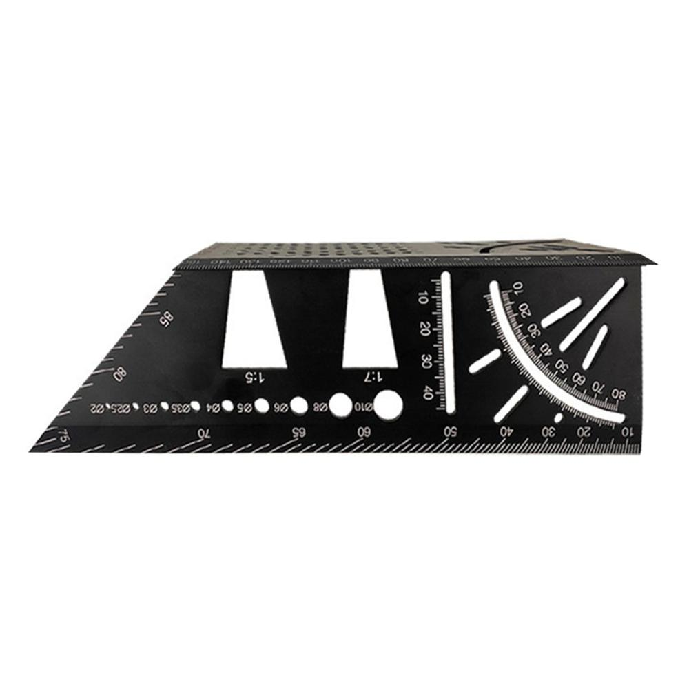 3D Aluminum Alloy Mitra Measuring Angle Square 45 90 Degrees Angle Ruler Score Marking Indicator Frame Protractor Carpentry