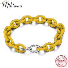 Hard Rubber X Bracelets for Women Men Round Silver Beads Charm Bracelets Fashion Jewelry Making Minimalism Style Femme Jewerly cheap MIKIWUU Chain Link Bracelets 925 Sterling NONE Party TRENDY PX0274 Fine Boyfriend girlfriend family lover mother S925