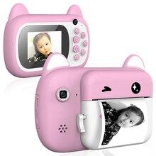 Детская камера Мгновенной Печати Камера Мгновенной Печати 2,4 ЖК-экран игрушка Подарки Komery цифровая камера фото-и видеозаписывающее устройс...