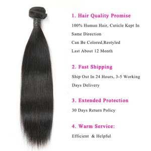 Image 3 - Alimice Indian Straight Human Hair Bundles With Closure 3 Bundles Hair Extensions With Closure Remy Lace Closure with Bundles