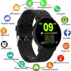 GEJIAN W8 ekran IPS 2.5D niestandardowe wybieranie dynamiczne tętno wiadomość sportowa Push bluetooth magnetyczna ładowarka dokująca inteligentny zegarek w Inteligentne zegarki od Elektronika użytkowa na