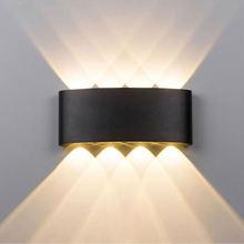 все цены на Outdoor wall light 8W 16W LED lighting fixtures IP65 waterproof Modern aluminum wall sconce Garden porch bathroom led wall lamps онлайн
