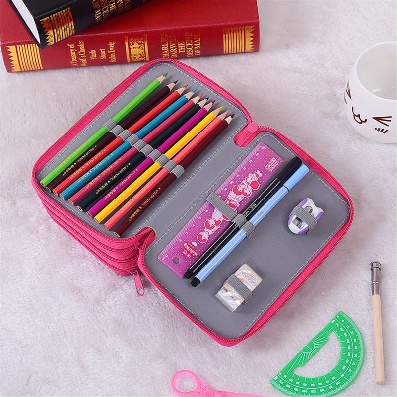 4th Floor Pencil Case Colorful Pencil Box Stationery Art Painting Watercolor School Supplies