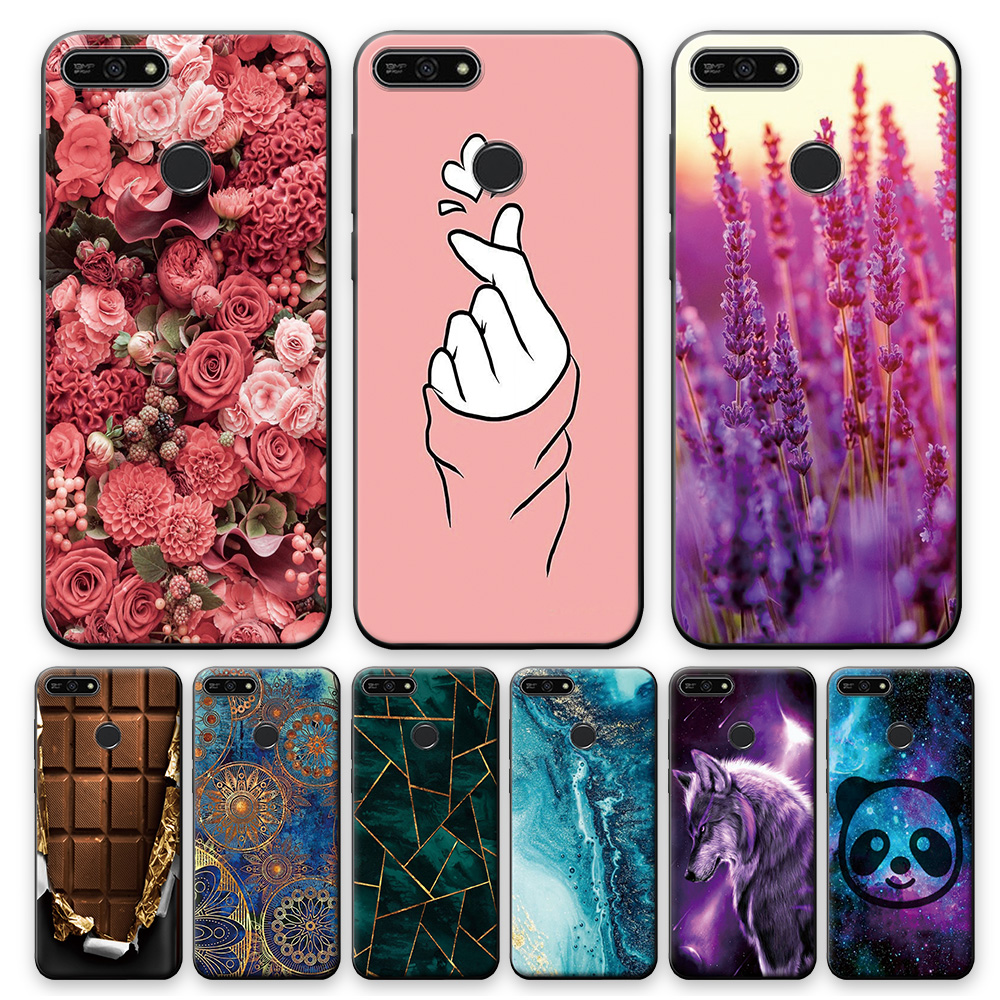 For Huawei Honor 7A Pro Case Cover Honor 7A Pro AUM-L29 5.7 inch Silicone Soft Back Cover Cute Phone Case For Huawei Honor 7APro