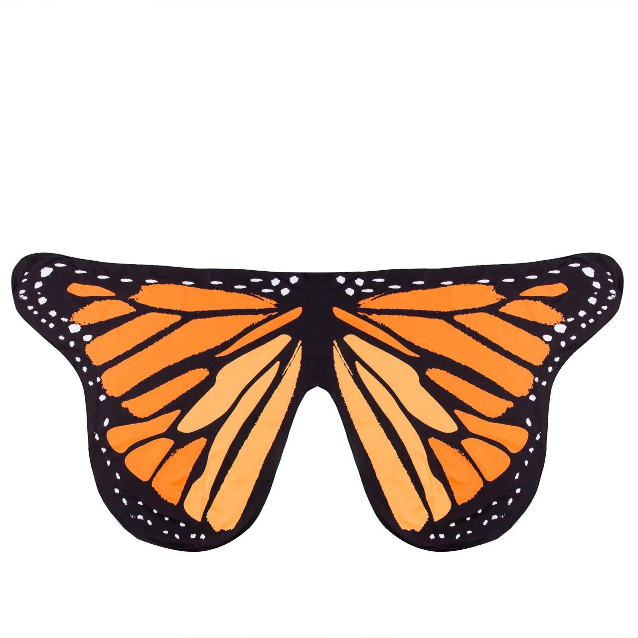 Pudcoco Детский шарф для девочек красивое крыло шаль бабочки шарфы летнее пляжное пончо костюм аксессуар пончо и накидки - Цвет: Оранжевый