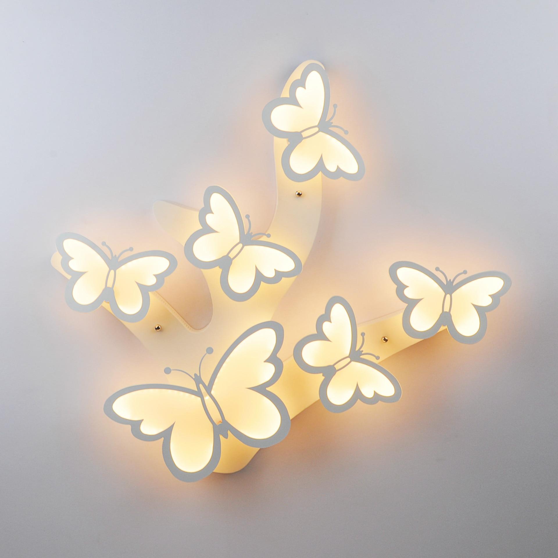 Modern Simple Butterfly Avize Led Ceiling Lights Children Living Room Bedroom Dinning Room Ceiling Lamp Home Deco Plafondlamp