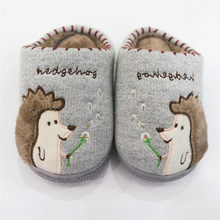 Children Cotton Fabric Shoes Winter Warmer Kids Home Slippers Boys And Girls Baby Fluffy Cute Little Kids Shoes 6(China)