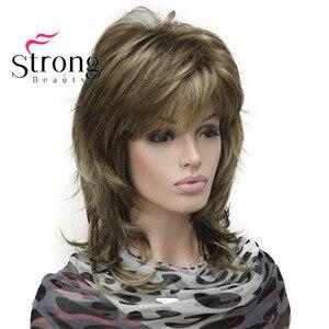 Image 4 - StrongBeauty sarışın vurgulanan uzun yumuşak katmanlı sevişmek sentetik peruk kadınlar için