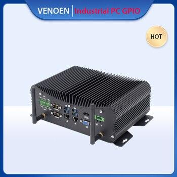 와이드 전압 36V 인텔 코어 i5 10210u i7 10510U 산업용 미니 PC GPIO LPT 7*24 시간 리눅스 컴퓨터 8565u 와이파이 4G SIM AC