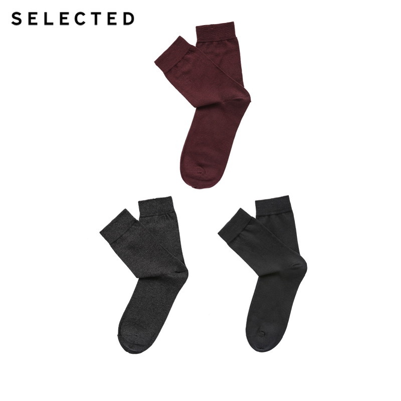 SELECTED Men's Three-pack Cotton-rich Three-color Socks A|41831Q515