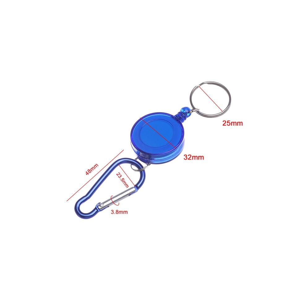 Anti-lost Belt Clip Keychain Key Ring Spreader Carabiner Outdoor tools