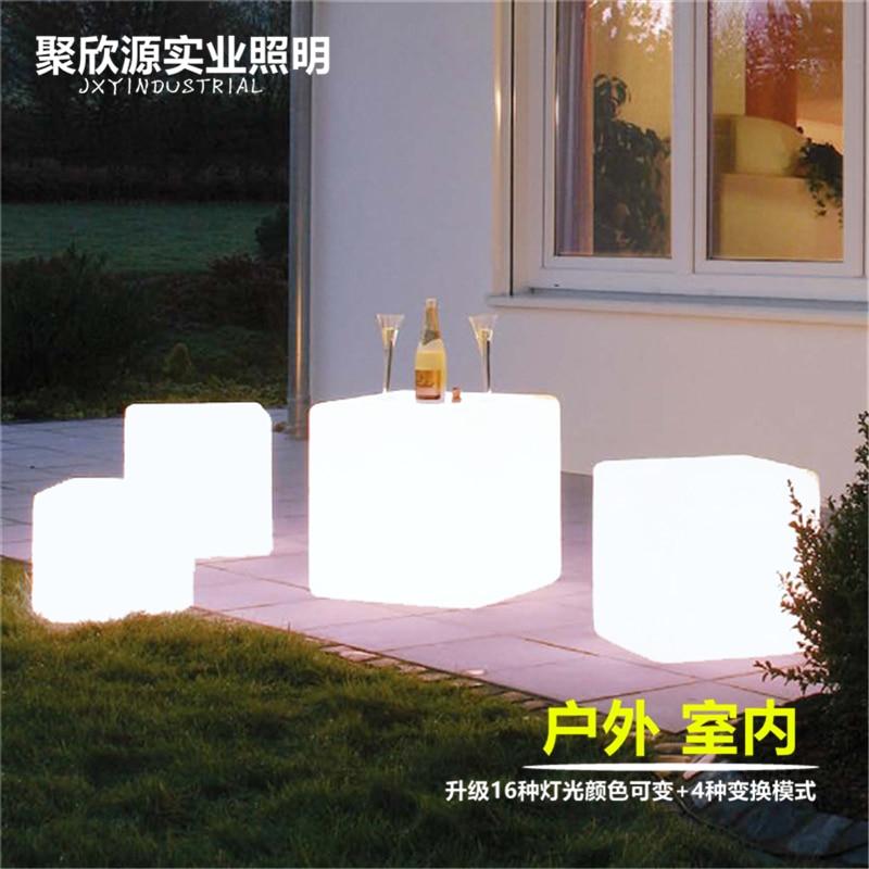 43CM led cube chair modern light furniture