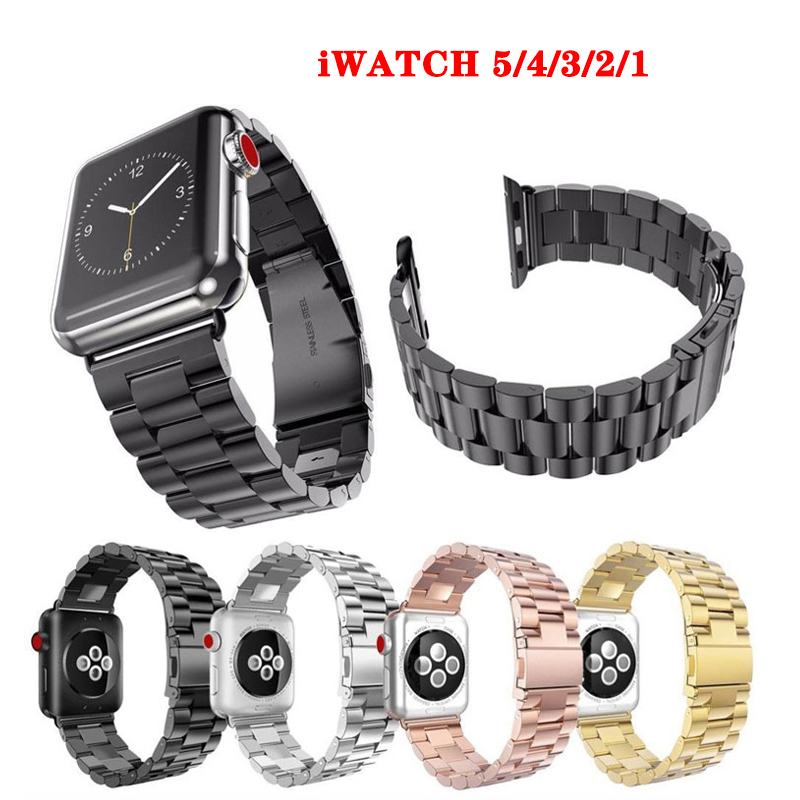 <font><b>Apple</b></font> <font><b>Watch</b></font> Stainless Steel band 38mm 40mm 5 4 <font><b>3</b></font> 2 1 iWatch Series Metal Smart Bracelet Bracelet <font><b>42mm</b></font> 44mm image