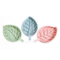 Assiette à savon en plastique en forme de feuille, Double couche, étui en forme de feuille, conteneur de vidange de savon, produits de salle de bains