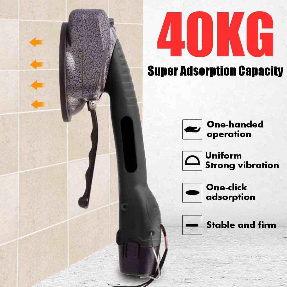 1000 ワット 2500mahタイルタイル機調節可能な吸引することができる 40 キロ床インストールツールタイル吸引床壁 + 1 バッテリー + バッグ