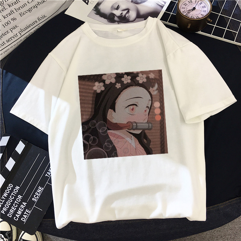 Женская футболка с героями мультфильмов demon slayer, топы с графикой, Японские футболки Kimetsu No Yaiba, аниме harajuku kawaii, уличная футболка в стиле панк|Футболки|   | АлиЭкспресс