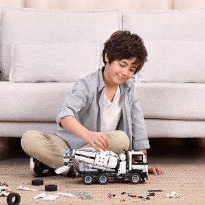 Image 3 - Xiaomi MITU mühendislik karıştırıcı kamyon yapı taşları araba oyuncak çocuklar noel hediyesi montaj yapı tuğla 900 + parçaları bulmacalar DIY