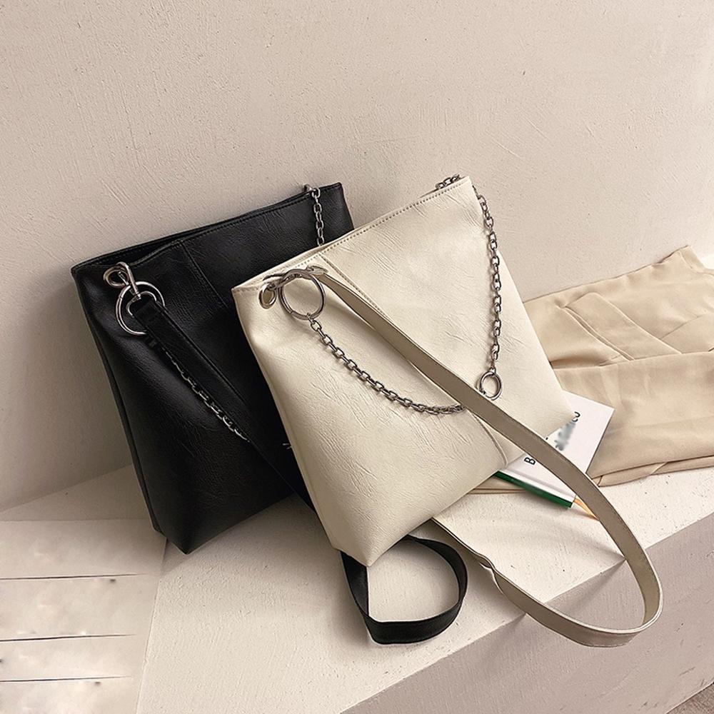 Chic Leather Crossbody Bag For Women Shoulders Bag Brand Design Solid Color Handbag Luxury Ladies Messenger Bag #20