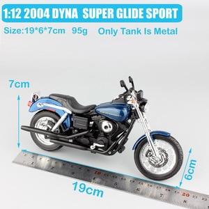 Image 2 - 1/12 ölçekli Maisto 2004 DYNA süper GLIDE spor FXDX motosiklet Diecast model motosiklet oyuncak hatıra hediye minyatür toplayıcı çocuk