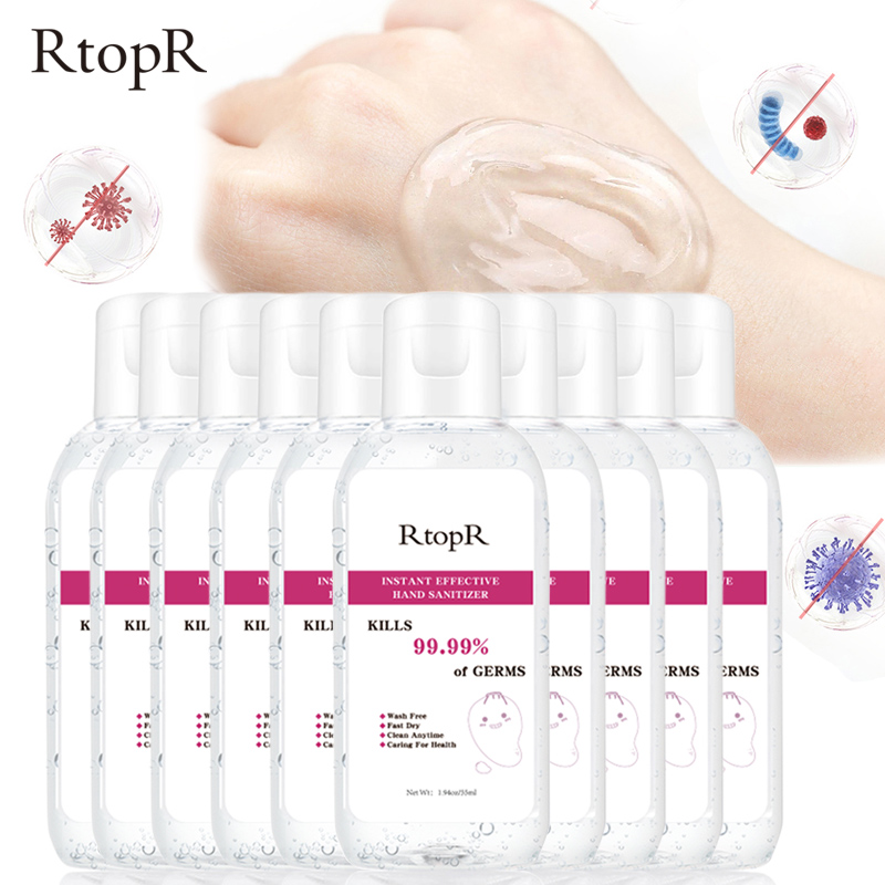 10pcs Disinfection Rine-free Hand Sanitizer 75% Alcohol Gel Portable 99.9% Antibacterial Disposable Prevention Hand Sanitizer